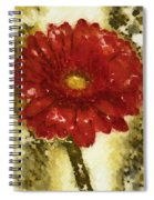 Really Red Posey Spiral Notebook