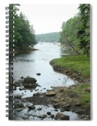 Receding Tide In Maine Part Of A Series Spiral Notebook