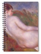 Reclining Nude In A Landscape Spiral Notebook