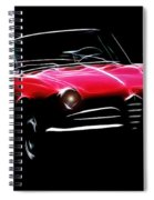 Red Alfa Romeo 1600 Giulia Spider Spiral Notebook