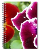 Red And Magenta Pansies Spiral Notebook
