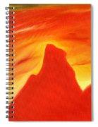 Red And Orange Spiral Notebook