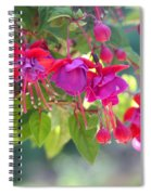 Red And Purple Fuchsias Spiral Notebook
