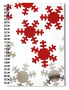 Red And Silver Snowflakes Spiral Notebook
