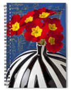Red And Yellow Primrose Spiral Notebook