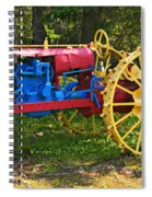 Red And Yellow Tractor Spiral Notebook