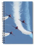 Red Arrows - Formation Magic Spiral Notebook