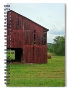 Red Barn And Hay Bales 3 Spiral Notebook