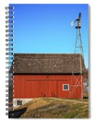 Red Barn And Windmill Spiral Notebook