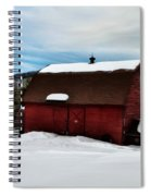 Red Barn In The Snow Spiral Notebook