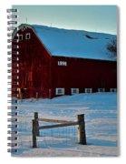 Red Barn In Winter ... Spiral Notebook