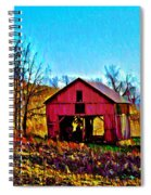 Red Barn On A Hillside Spiral Notebook