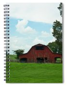Red Barn On The Horizon Spiral Notebook