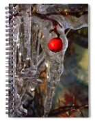 Red Berry In Icicle Spiral Notebook