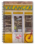 Red Bike At The Boulangerie Spiral Notebook