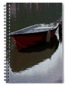 Red Boat In A Canal In The Netherlands Spiral Notebook
