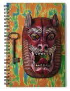Red Cat Mask Spiral Notebook