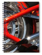 Red Chopper Detail Spiral Notebook