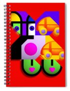 Red Collage Spiral Notebook