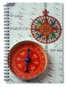 Red Compass And Rose Compass Spiral Notebook