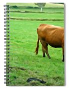 Red Cow Spiral Notebook