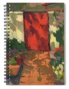 Red Door - Shadow And Light Spiral Notebook
