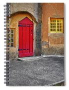 Red Door And Yellow Windows Spiral Notebook