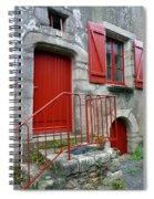 Red Door In Laroche Bernard Spiral Notebook