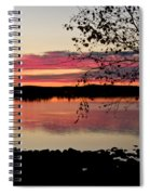 Red Evening Sky Spiral Notebook