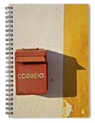 Red Faded Mailbox Of Portugal II Spiral Notebook