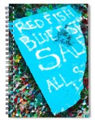 Red Fish Blue Fish Sale Spiral Notebook