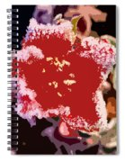 Red Flower With Frost Spiral Notebook