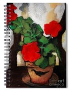 Red Geranium Spiral Notebook