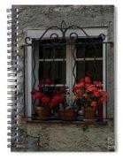 Red Geraniums In Window Spiral Notebook