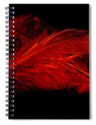 Red Ghost On Black Spiral Notebook