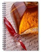Red Glass Pen  Spiral Notebook