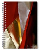 Red Gold And White Spiral Notebook