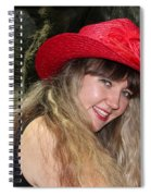 Red Hat And A Blonde Spiral Notebook