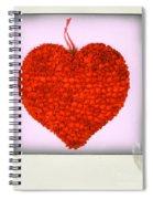 Red Heart Spiral Notebook
