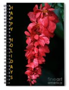 Red Holiday Greeting Card Spiral Notebook
