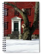 Red House And Snow Spiral Notebook