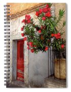 Red In Provence Spiral Notebook