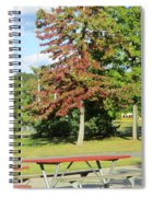 Red In Sunlight Spiral Notebook