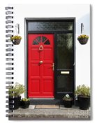 Red Irish Door Spiral Notebook