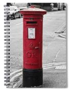 Red King George V Postbox Spiral Notebook