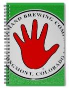 Red Left Hand Spiral Notebook