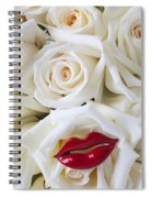 Red Lips And White Roses Spiral Notebook