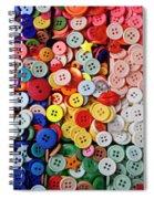 Red Lips Button Spiral Notebook