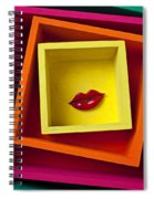 Red Lips In Yellow Box Spiral Notebook