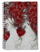Red Love Spiral Notebook